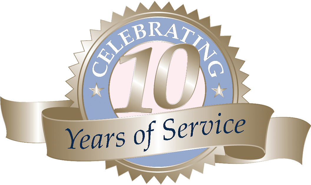 10 years of service banner – Peek a Baby