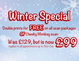 Peek-a-baby winter deal mobile